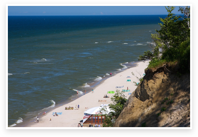 widok plaża i morze